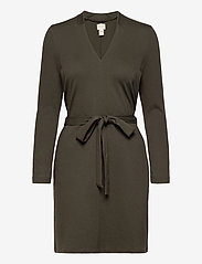 Lear Ecovero Dress - INK GREEN