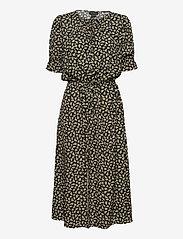 Residus - Bella Printed Viscose Dress - sommerkjoler - black - 0