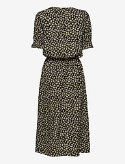 Residus - Bella Printed Viscose Dress - sommerkjoler - black - 1