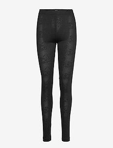 BEY JACQUARD TIGHTS - leggings - black