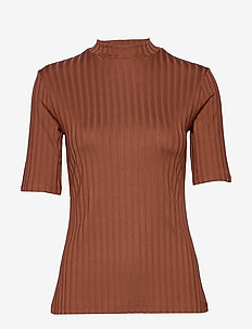MOSS RIB TOP - CINNAMON