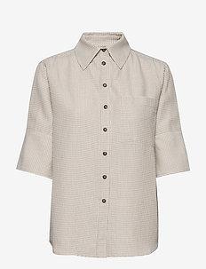 RODA SASHIKO SHIRT - koszule z krótkim rękawem - sand stone