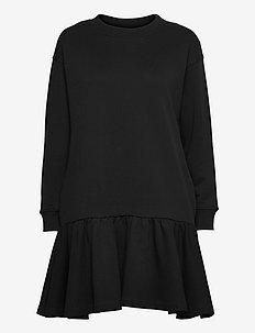 Ray Sweatshirt Dress - midi kjoler - black