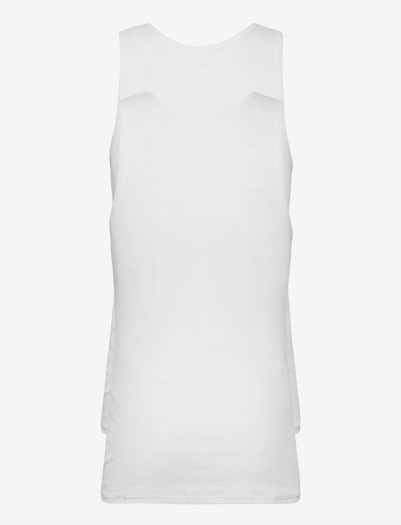 Resteröds BAMBOO 2-PACK TANK - T-skjorter WHITE - Menn Klær