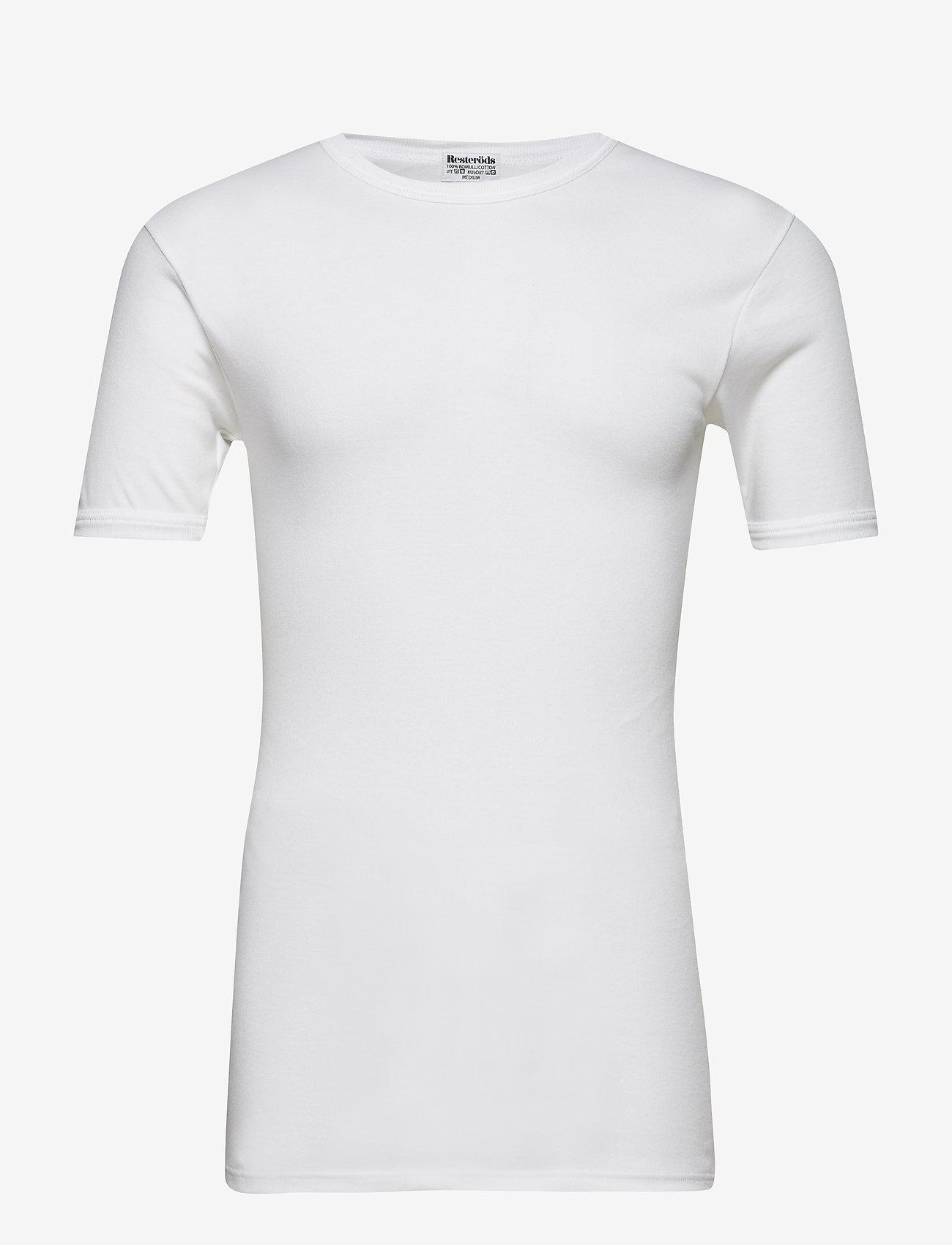 Resteröds - Tröja, kort ärm rund halsring - basic t-shirts - white