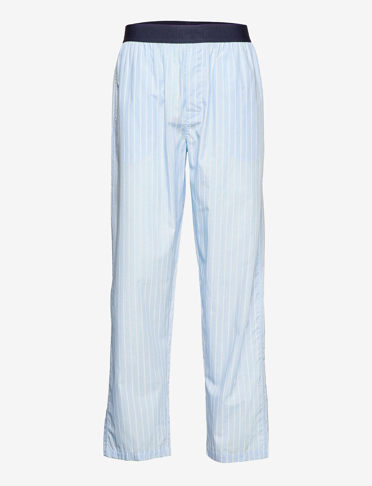 Resteröds - Resteröds Pyjamas pants Org. - bottoms - blå - 0
