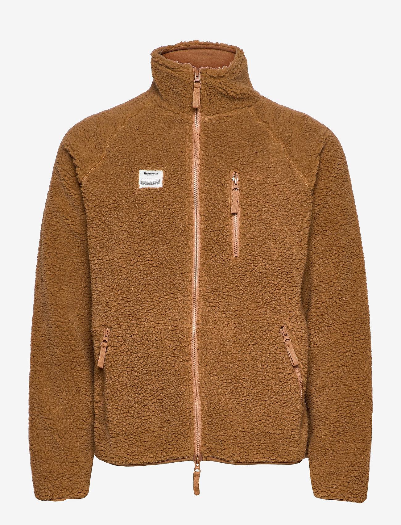 Resteröds - Resteröds Zip Fleece Jacket - basic-sweatshirts - caramel - 0