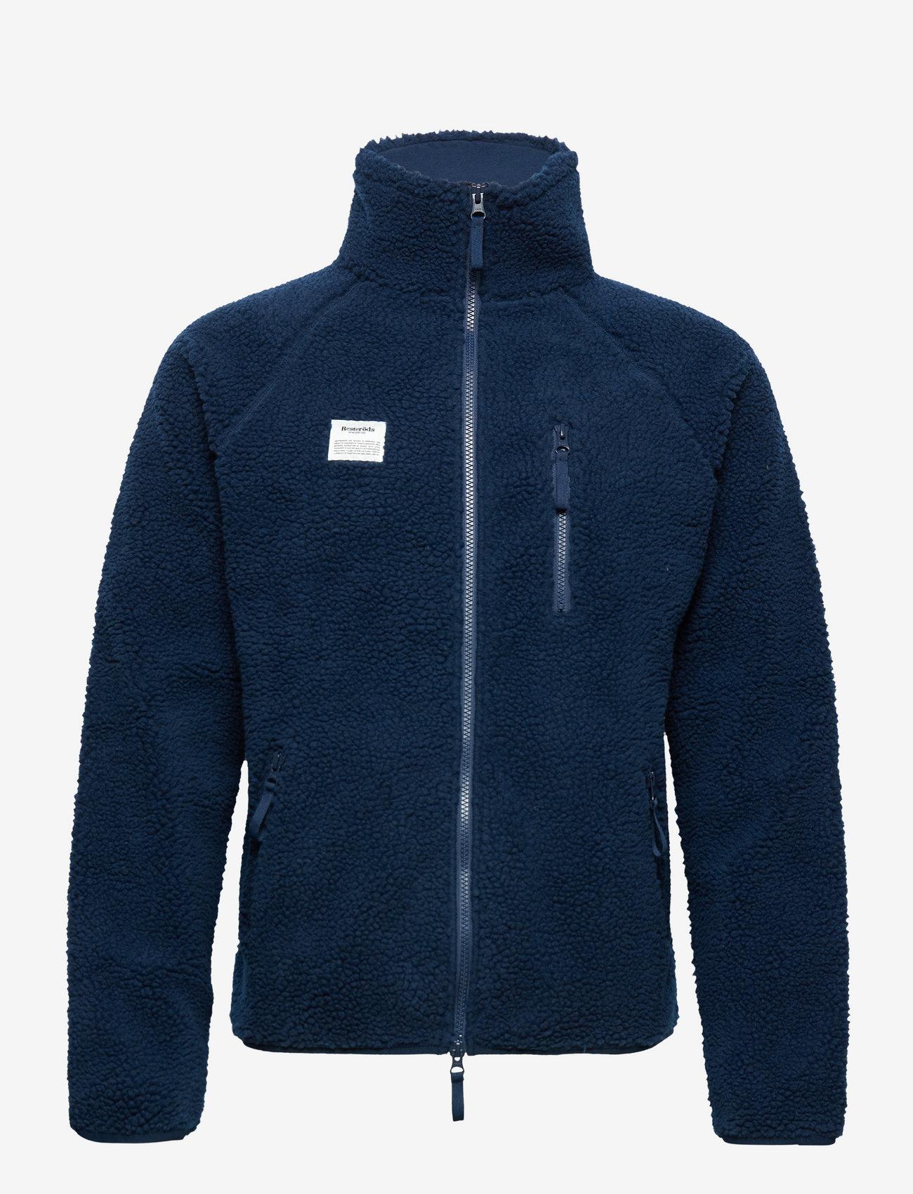 Resteröds - Resteröds Zip Fleece Jacket - basic-sweatshirts - navy - 0