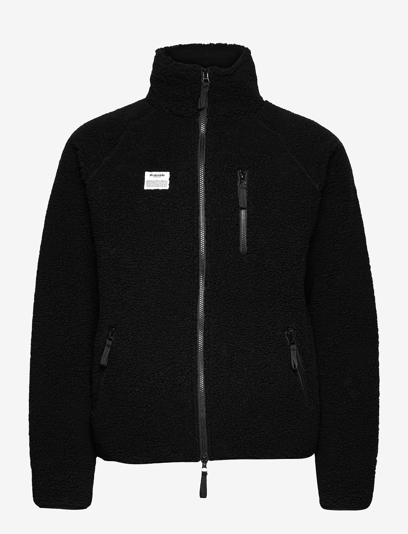 Resteröds - Resteröds Zip Fleece Jacket - podstawowe bluzy - svart - 0
