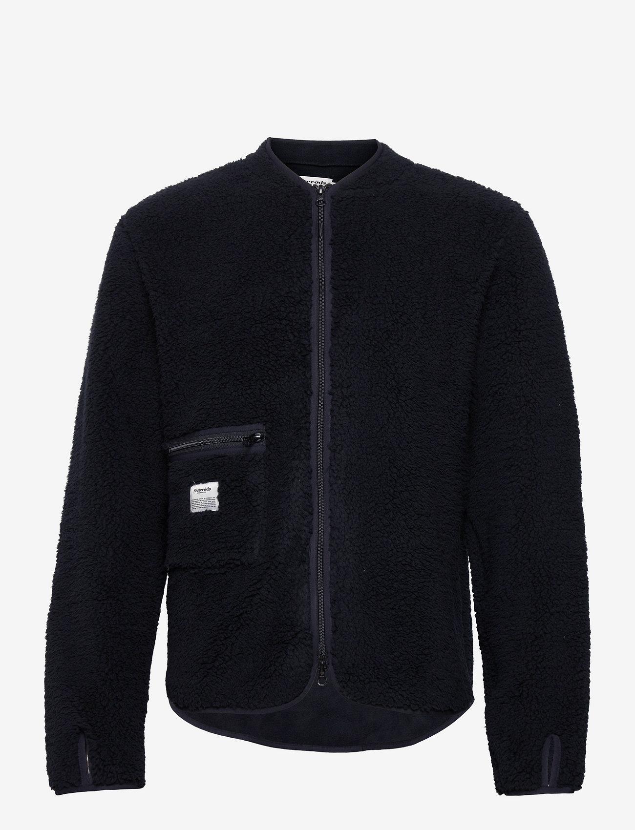 Resteröds - Original Fleece Jacket Recycle - podstawowe bluzy - svart - 0
