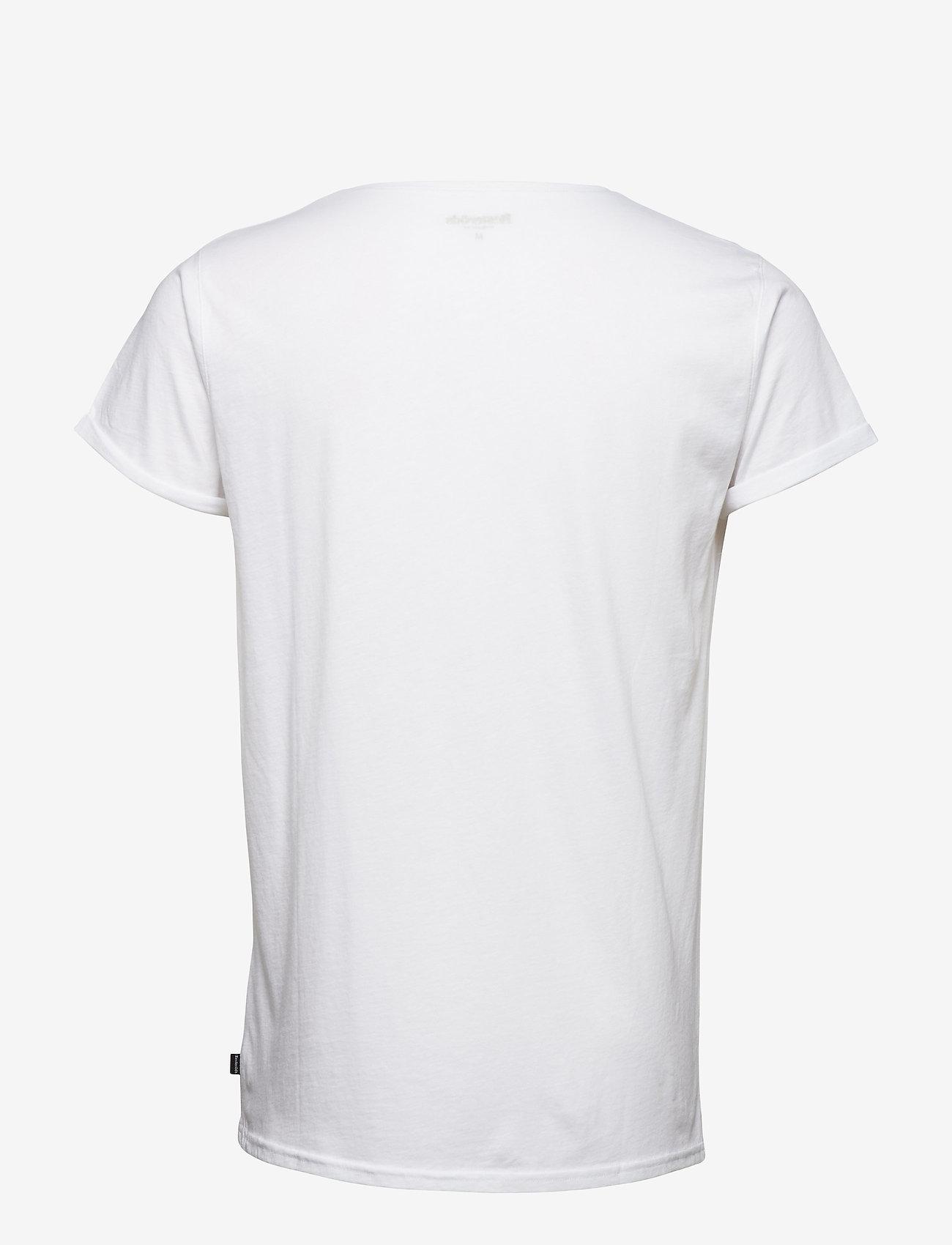 Resteröds - JIMMY SOLID - kortermede t-skjorter - white - 1