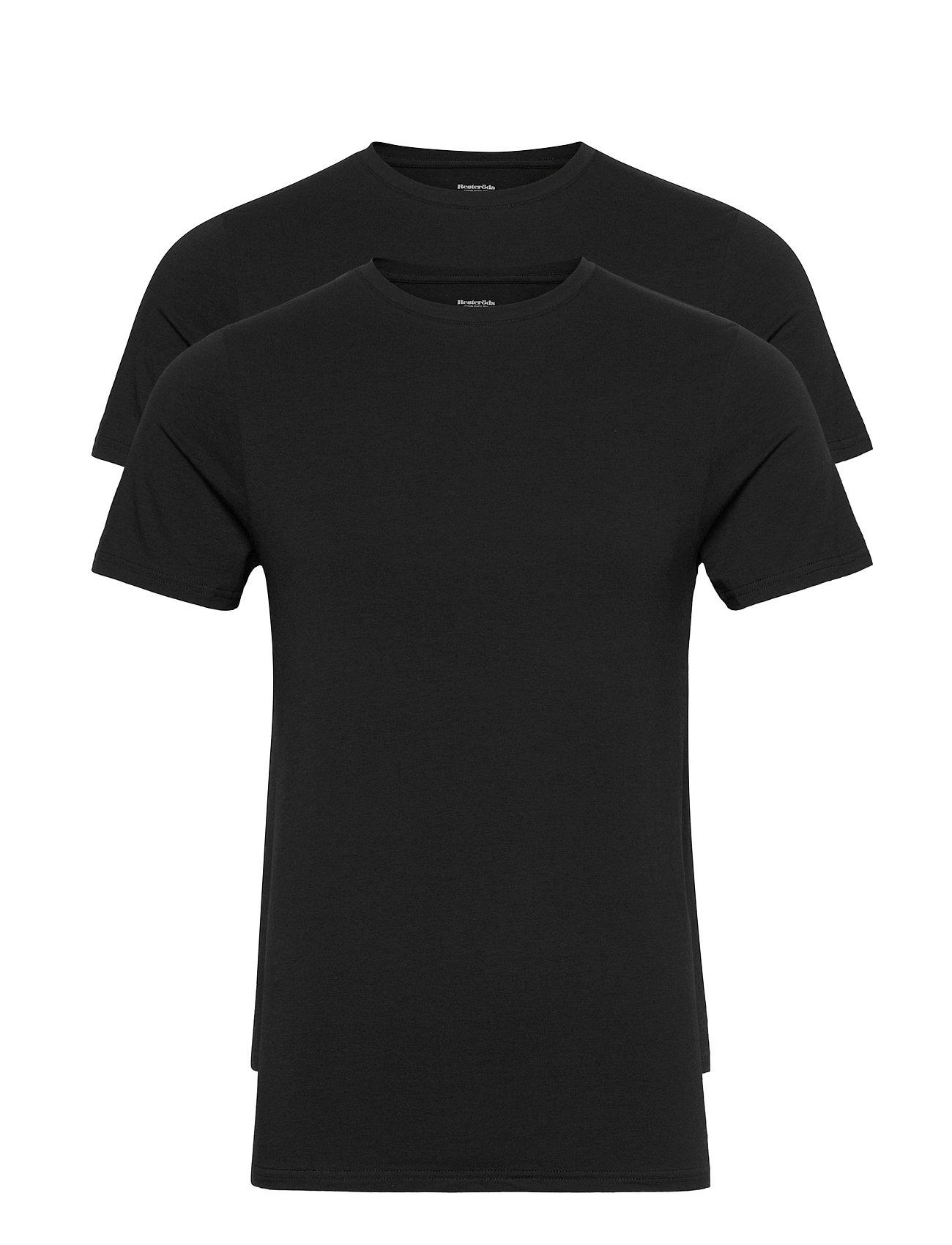 Image of Bamboo 2-Pack Tee T-shirt Sort Resteröds (3457408811)