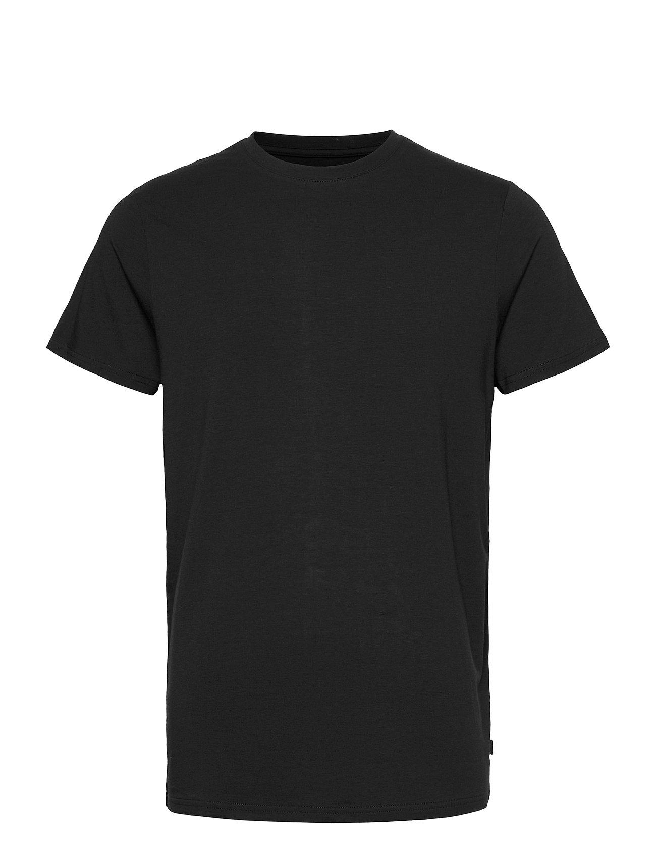 Image of Bamboo R-Neck Tee T-shirt Sort Resteröds (3455507505)