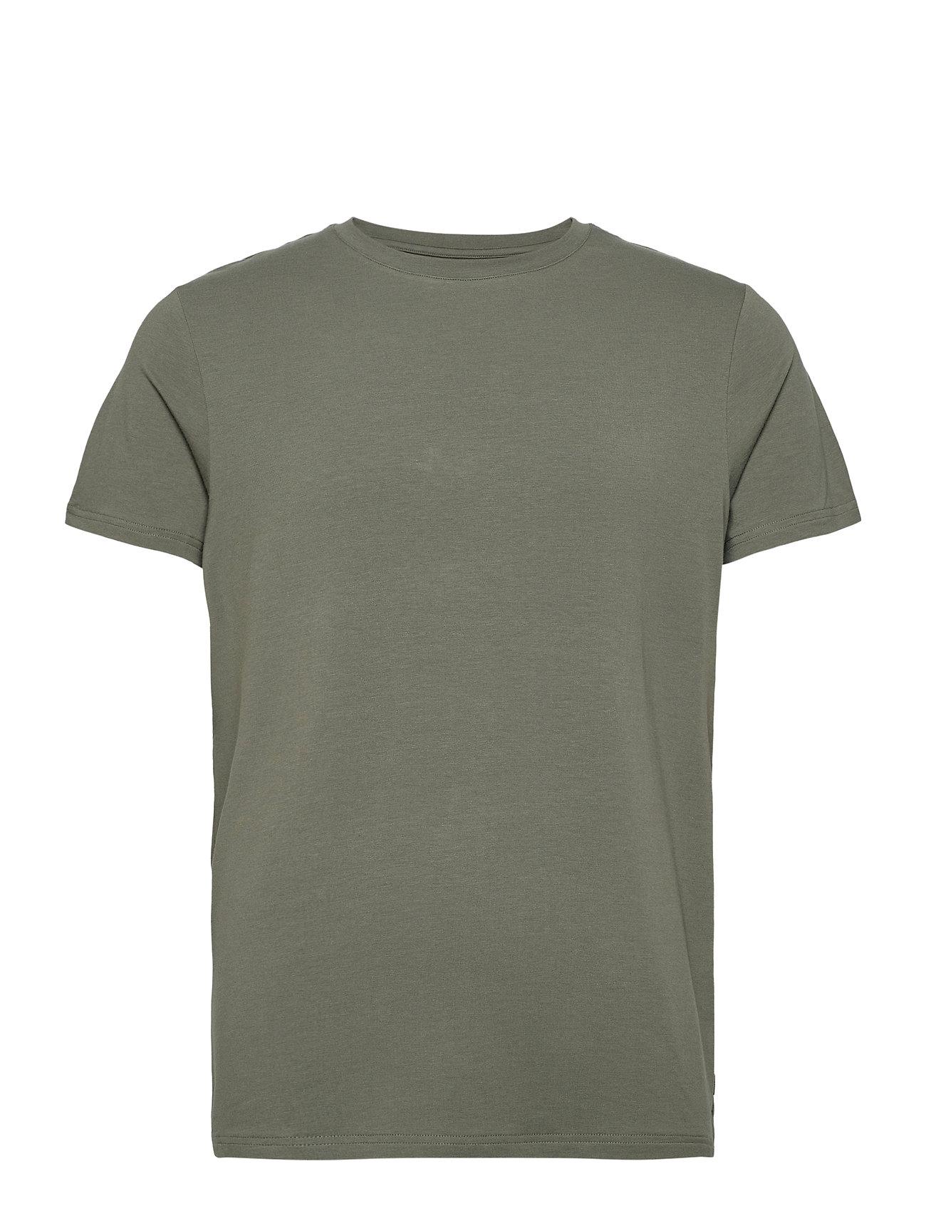 Image of Bamboo R-Neck Tee T-shirt Grøn Resteröds (3456629443)