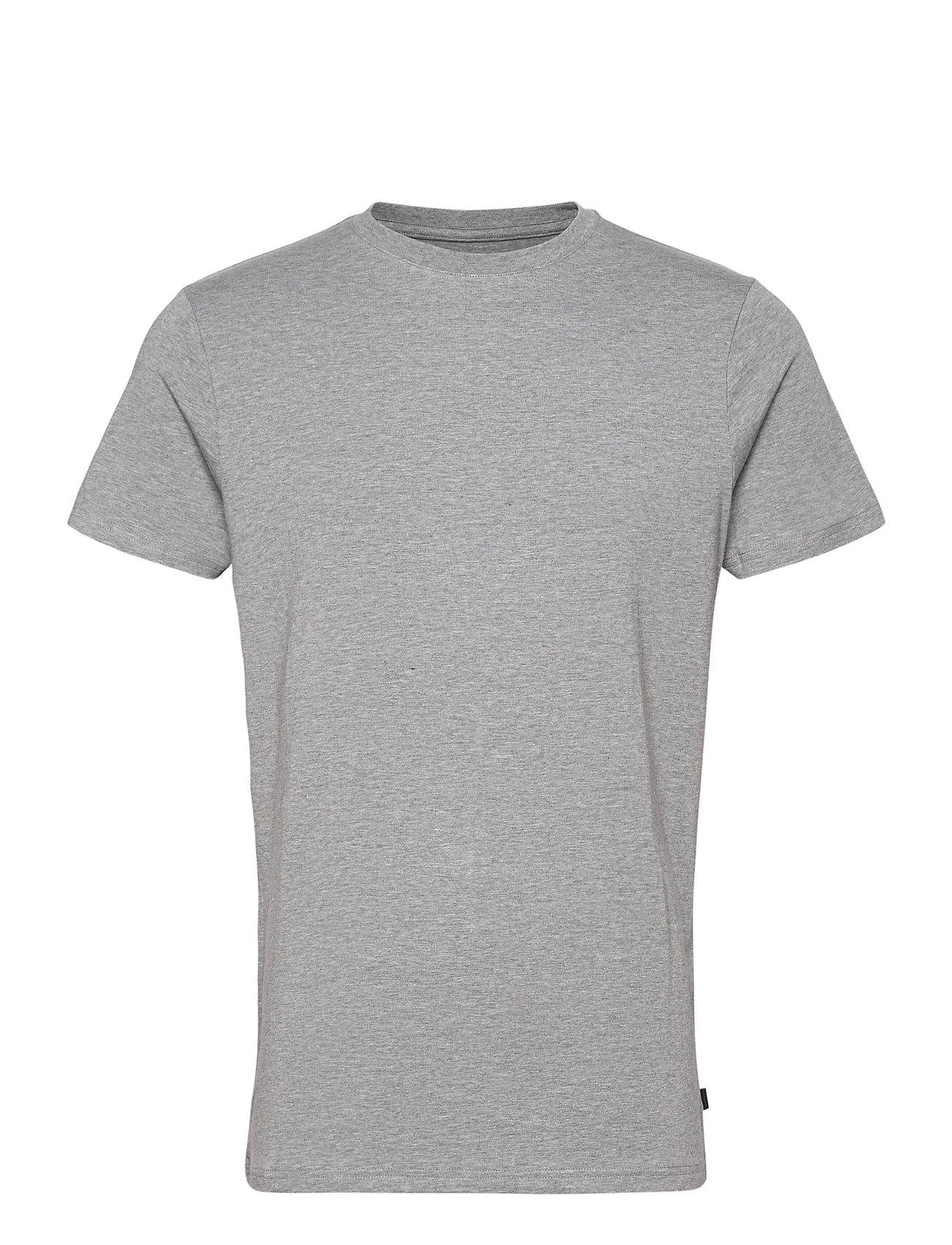 Image of Bamboo R-Neck Tee T-shirt Grå Resteröds (3455507501)