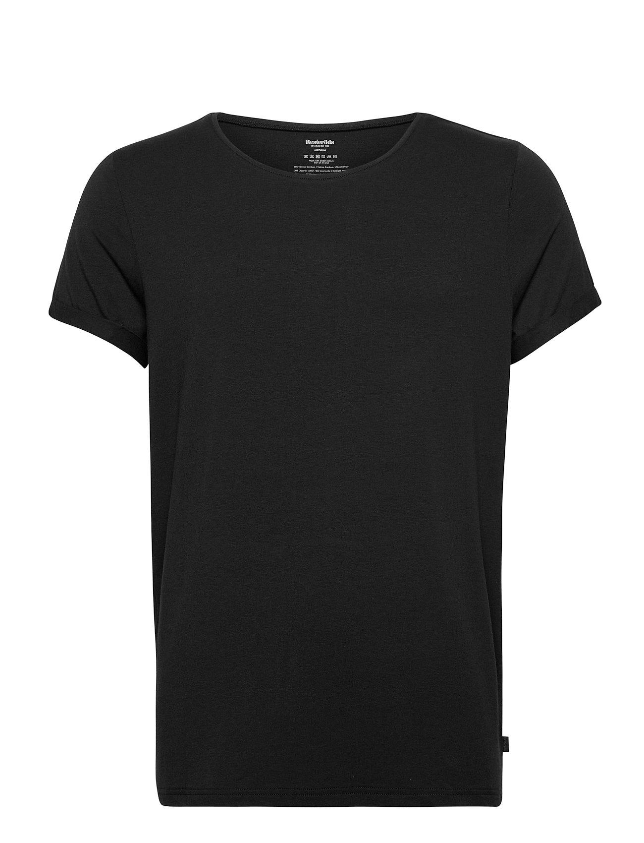 Image of Bamboo Jimmy Tee T-shirt Sort Resteröds (3455507613)