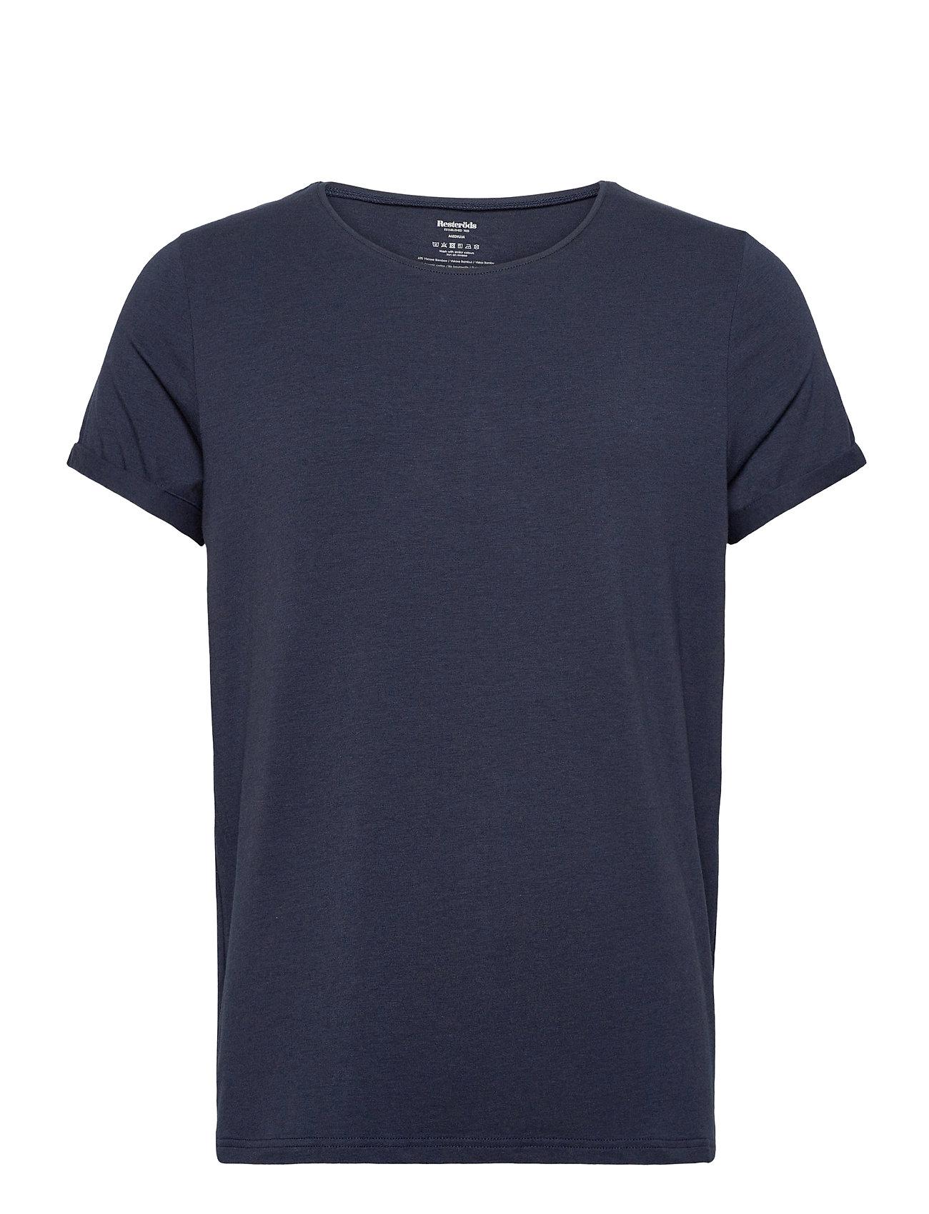 Image of Bamboo Jimmy Tee T-shirt Blå Resteröds (3455507623)