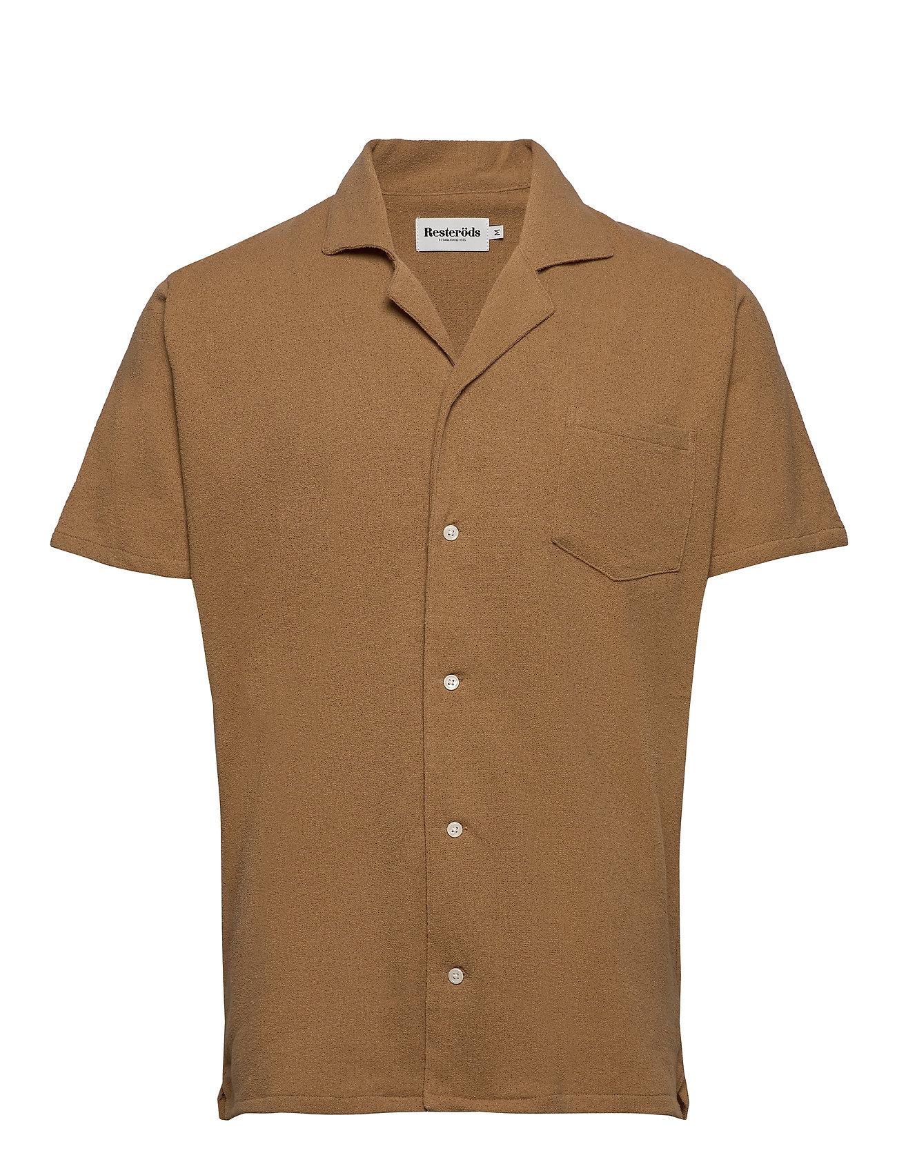 Image of Resort Shirt Terry ResteröDs Kortærmet Skjorte Brun Resteröds (3443838413)