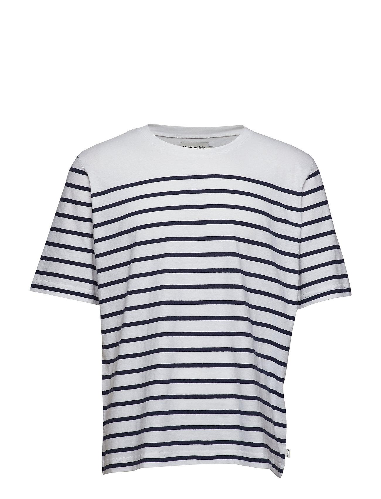 Resteröds Mid sleeve stripes. - WHITE/NAVY