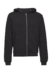 Zip hoodie - BLACK