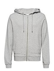 Zip hoodie - GREY MEL.