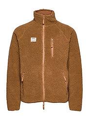 Resteröds Zip Fleece Jacket - CARAMEL