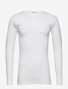Tröja, lång ärm rund halsring - perus t-paidat - white