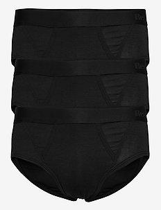 BAMBU BRIEF 3-PACK - briefs - black