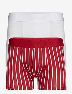 BAMBU 2-PACK Gunnar - ondergoed - red/white