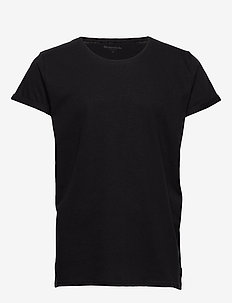 Jimmy Solid Cotton-linen - kurzärmelig - black