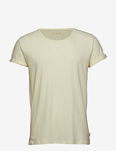 Jimmy Solid Cotton-linen - krótki rękaw - l. yellow