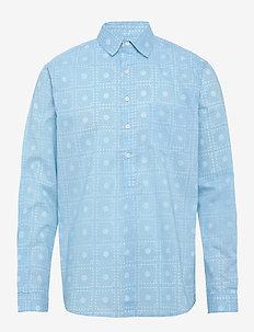Pop over shirt, paisley - biznesowa - blue
