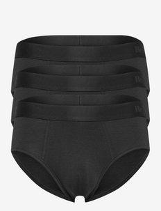 BAMBU BRIEF 3-PACK FSC - heren slips - svart