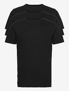 ORIGINALmen's o-neck tee 3-p. - t-shirts basiques - black
