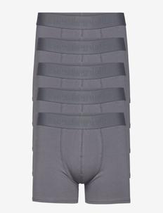 BOXER Org. cotton 5-PACK GOTS - bielizna - grå