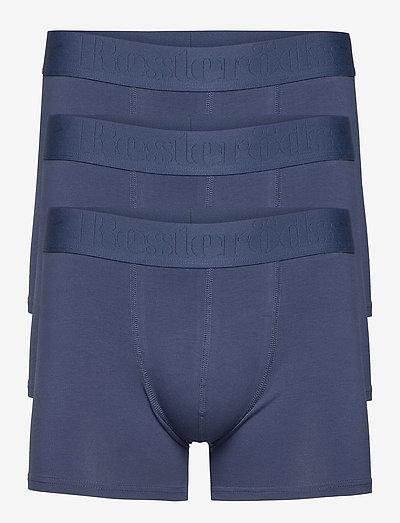 BOXER Org. cotton 3-PACK GOTS - undertøj - navy