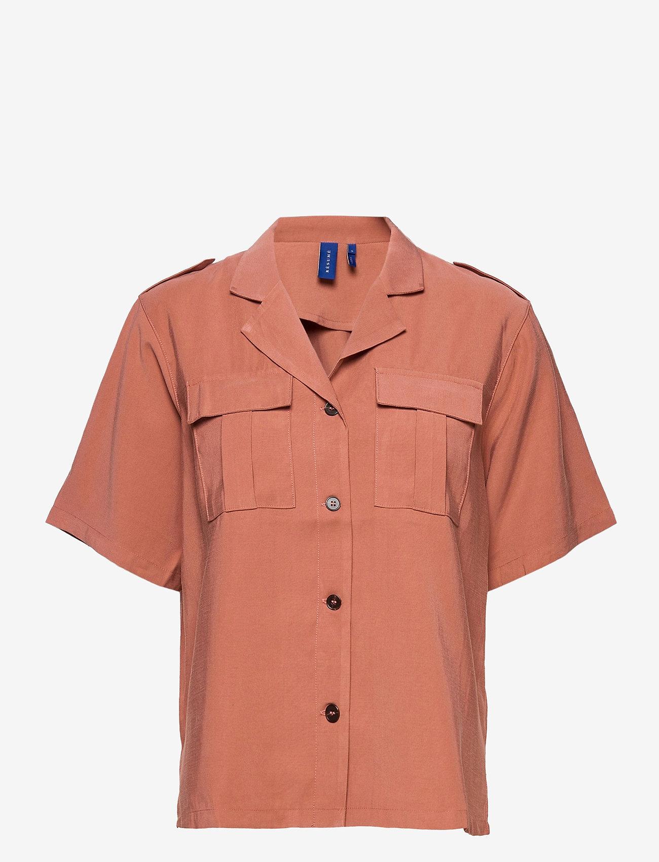 Résumé - Aphrodite Shirt - overhemden met korte mouwen - rouge - 0