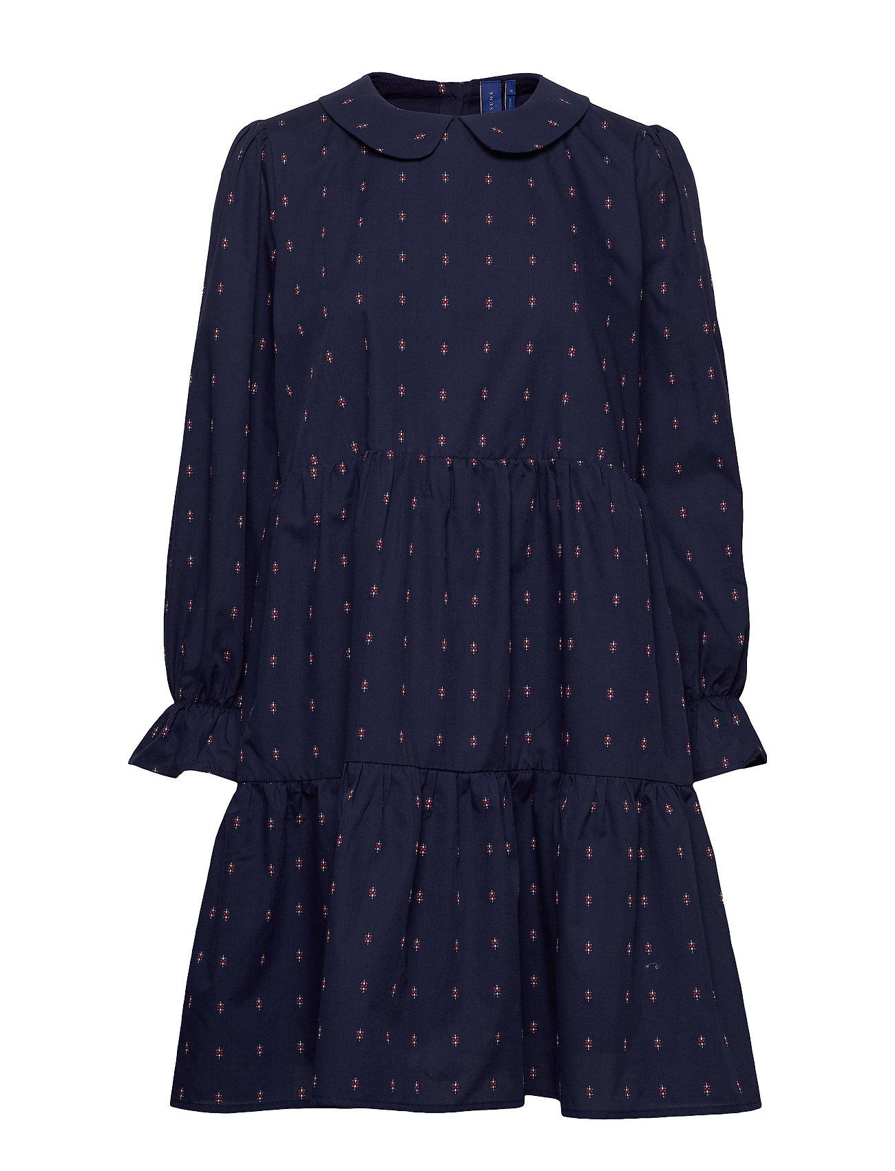 Image of Sif Dress Knælang Kjole Blå Résumé (3327444399)