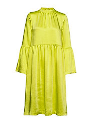 Pil dress - NEON YELLOW