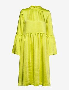 Pil dress - NEON YELLOW