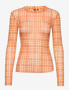 Toby blouse - pitkähihaiset t-paidat - orange