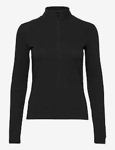 Amir High Neck - pitkähihaiset t-paidat - black