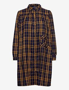 Adelia Dress - skjortklänningar - navy