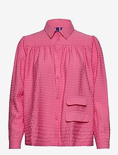 Adrina Shirt - långärmade skjortor - bubblegum