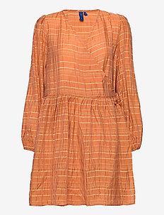 Abra Dress - robes portefeuille - copper