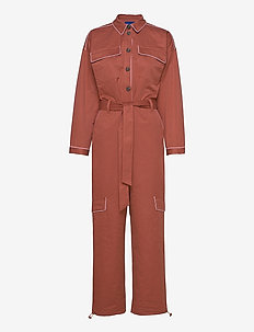 Antonette Jumpsuit - jumpsuits - clay