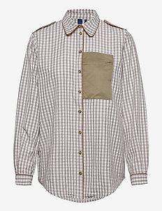 Aliyah Shirt - långärmade skjortor - wood