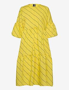 Amber Dress - midi kjoler - yellow