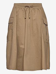 Akaris Skirt - midi kjolar - wood