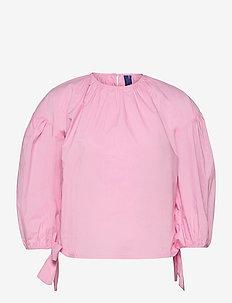 DevonaRS Blouse - long sleeved blouses - pink